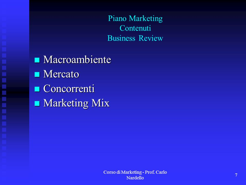 Piano Marketing Contenuti Business Review