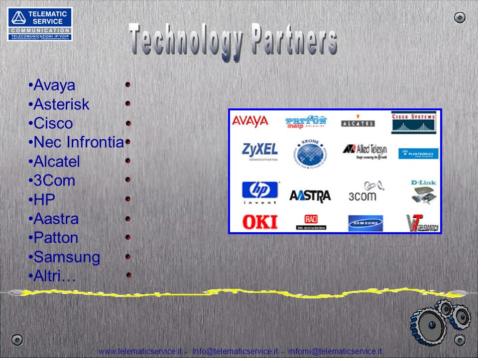 Technology Partners Avaya Asterisk Cisco Nec Infrontia Alcatel 3Com HP