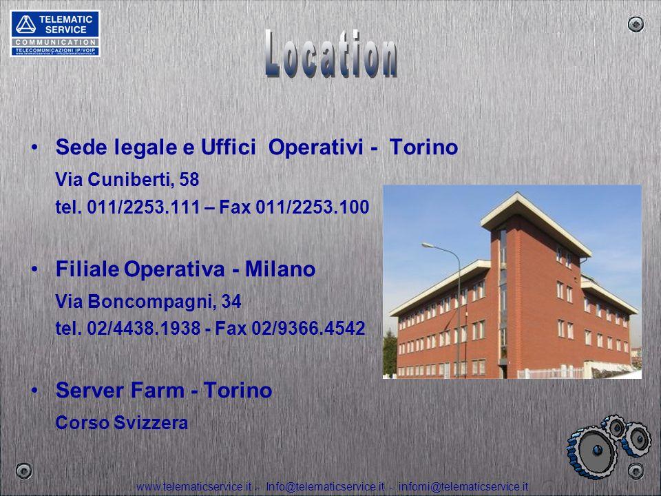 Location Sede legale e Uffici Operativi - Torino Via Cuniberti, 58