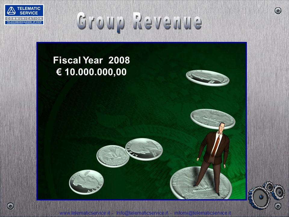 Group Revenue Fiscal Year 2008 € 10.000.000,00