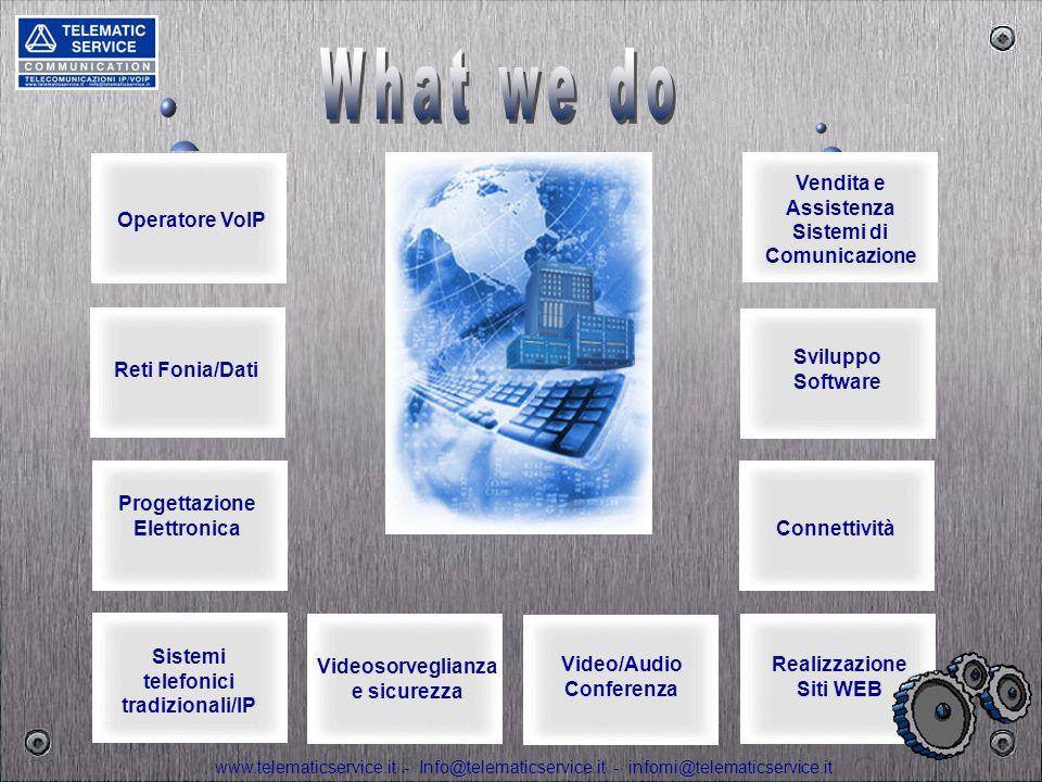 What we do Vendita e Assistenza Sistemi di Comunicazione