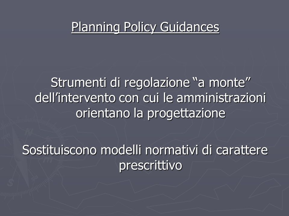 Planning Policy Guidances