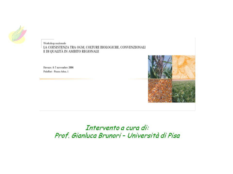 Prof. Gianluca Brunori – Università di Pisa