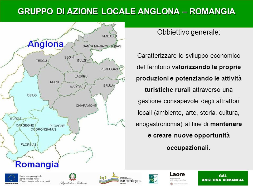 GRUPPO DI AZIONE LOCALE ANGLONA – ROMANGIA