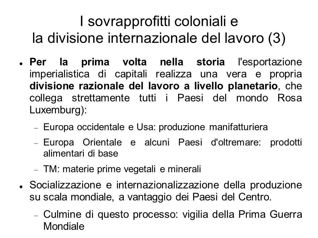 I sovrapprofitti coloniali e la divisione internazionale del lavoro (3)