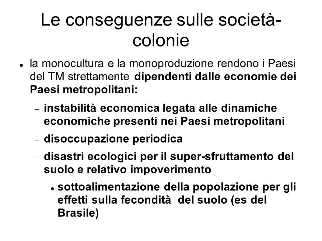 Le conseguenze sulle società-colonie