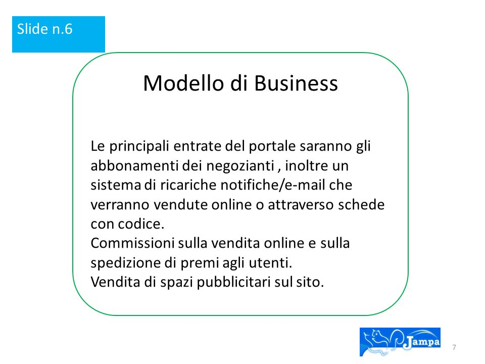 Modello di Business Slide n.6