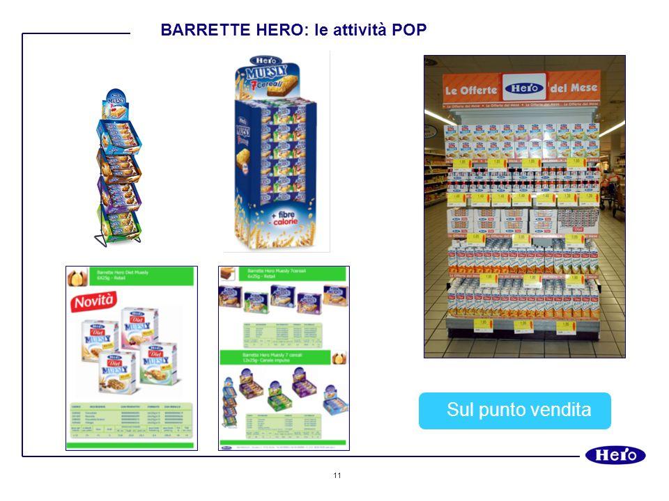 BARRETTE HERO: le attività POP