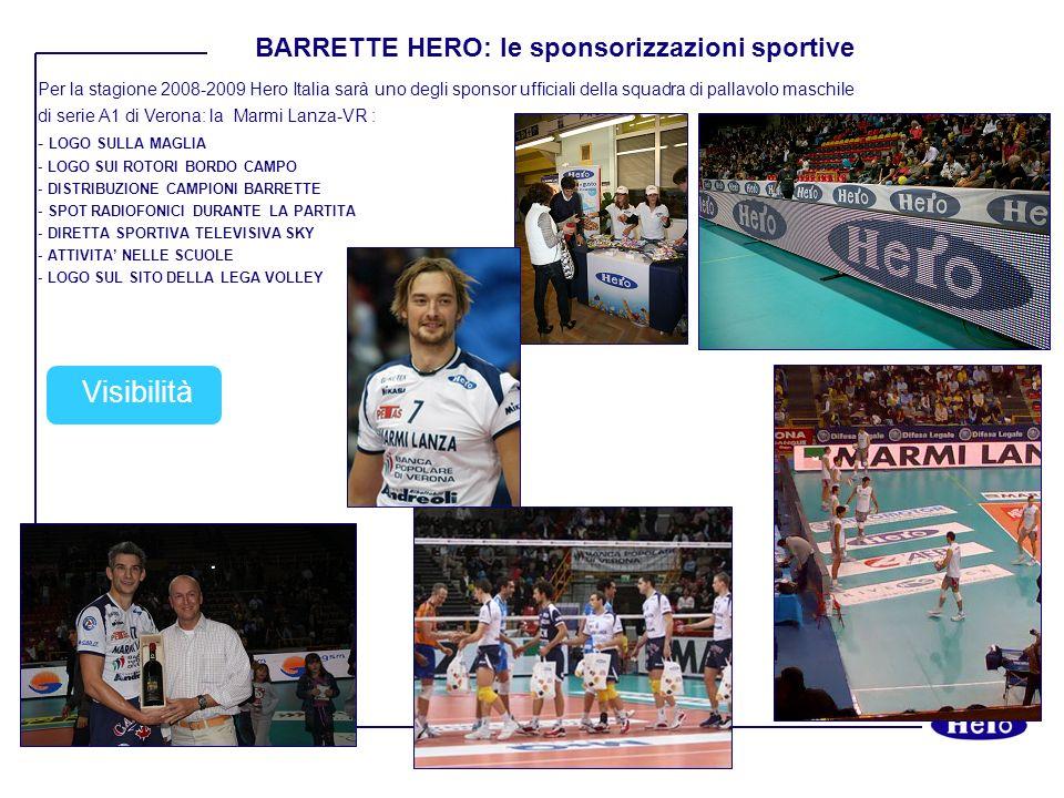 Visibilità BARRETTE HERO: le sponsorizzazioni sportive