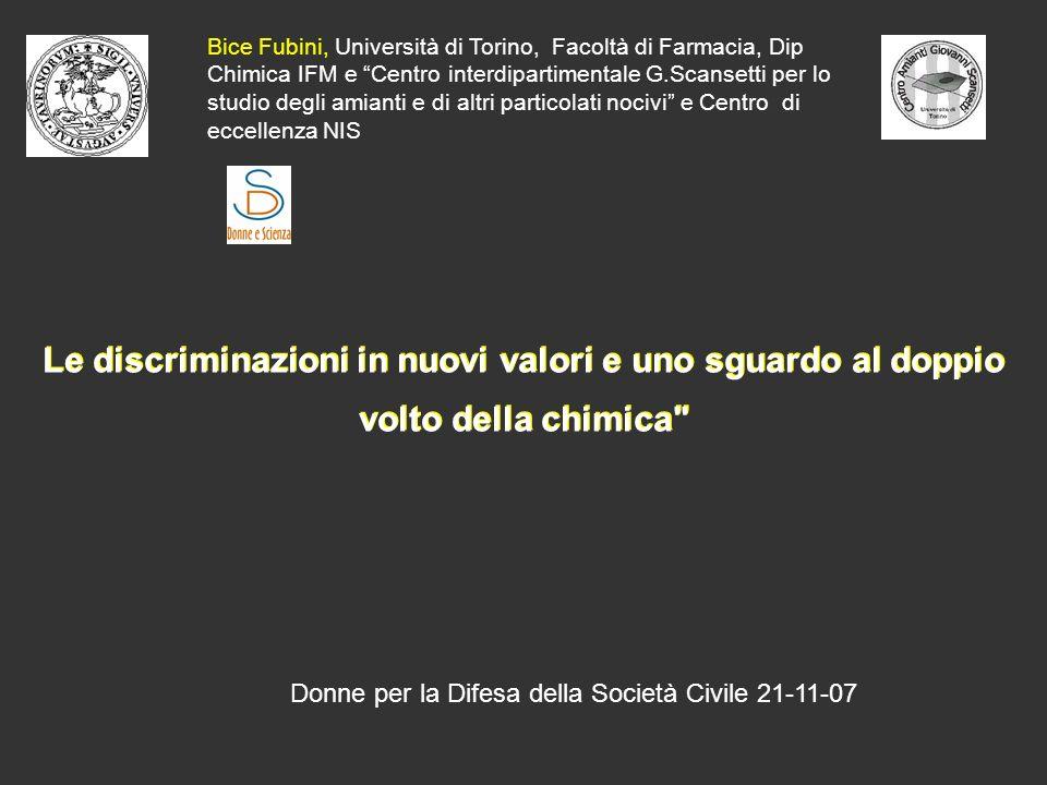 Bice Fubini, Università di Torino, Facoltà di Farmacia, Dip Chimica IFM e Centro interdipartimentale G.Scansetti per lo studio degli amianti e di altri particolati nocivi e Centro di eccellenza NIS