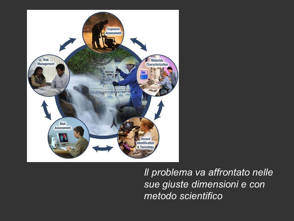 Il problema va affrontato nelle sue giuste dimensioni e con metodo scientifico