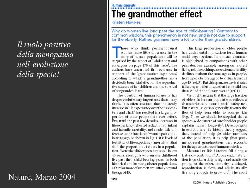 Il ruolo positivo della menopausa nell'evoluzione della specie!
