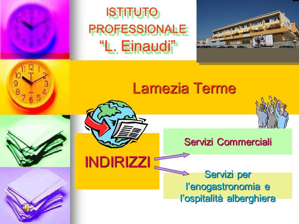 Lamezia Terme INDIRIZZI ISTITUTO PROFESSIONALE L. Einaudi