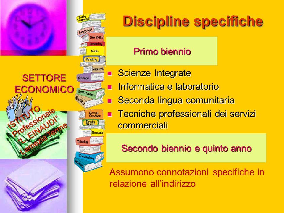 Discipline specifiche