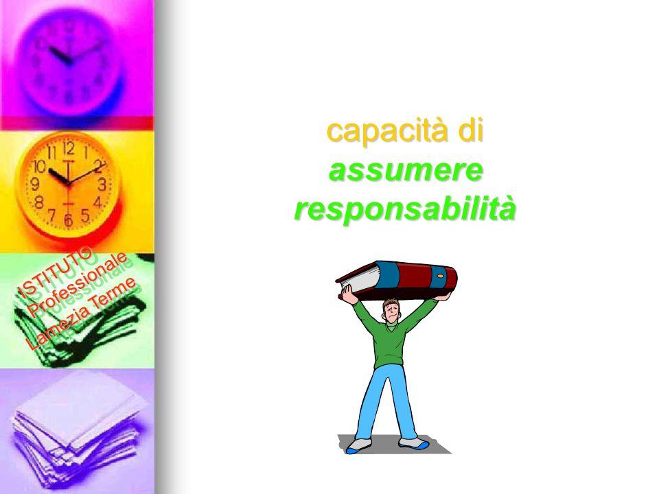 assumere responsabilità