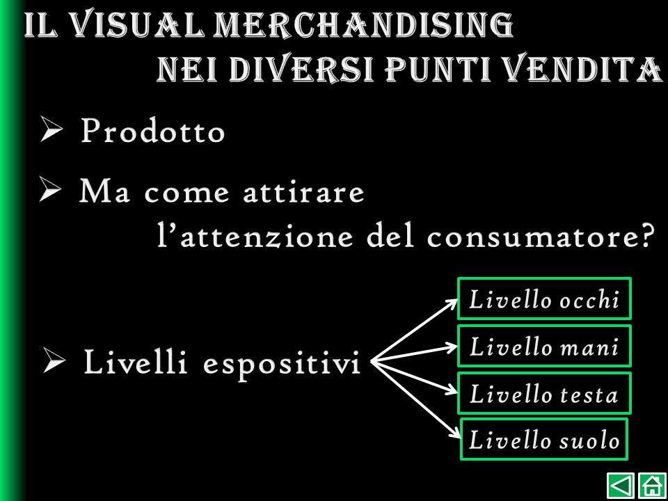 Il visual merchandising nei diversi punti vendita