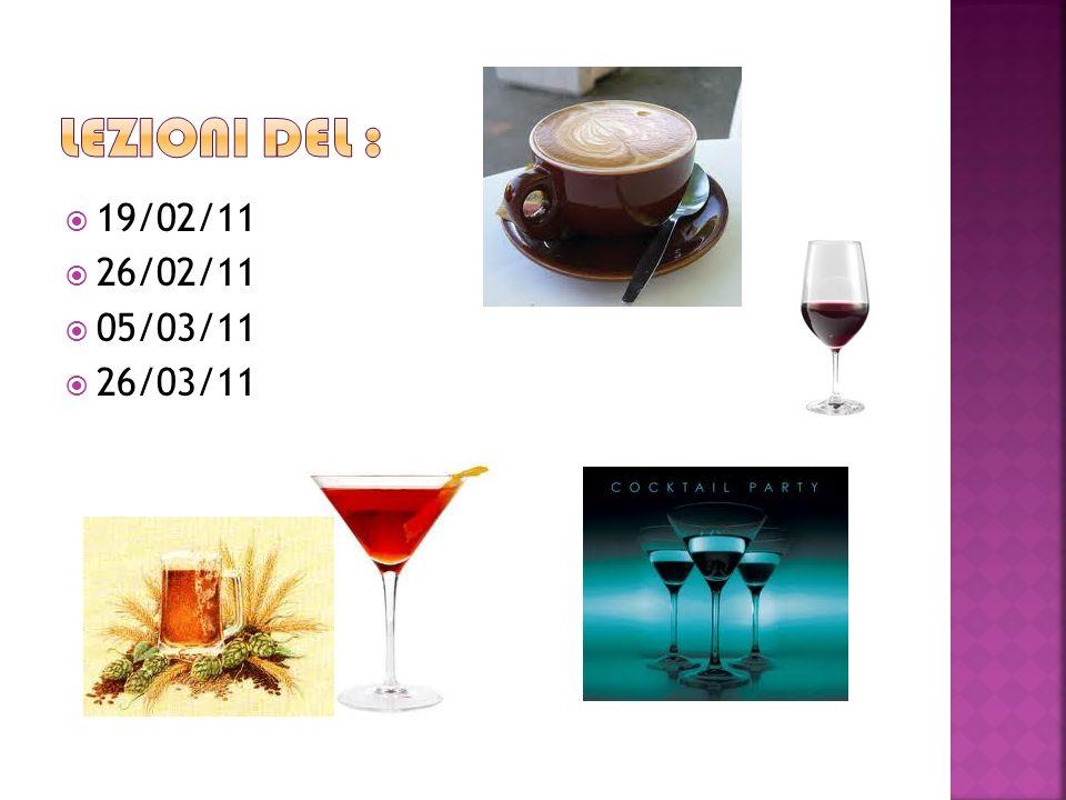 LEZIONI DEL : 19/02/11 26/02/11 05/03/11 26/03/11