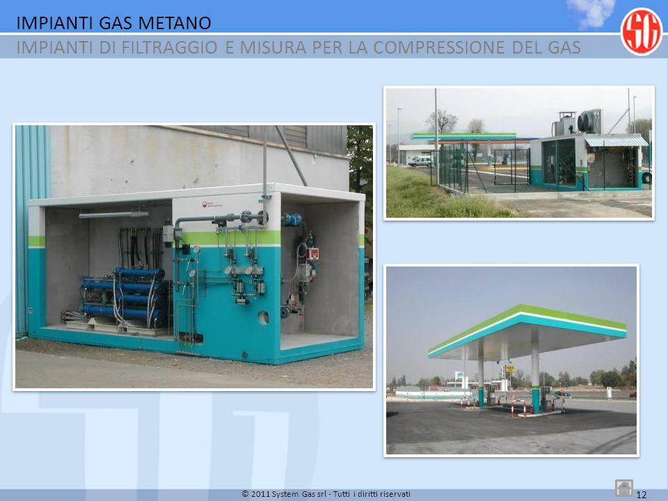IMPIANTI GAS METANO IMPIANTI DI FILTRAGGIO E MISURA PER LA COMPRESSIONE DEL GAS