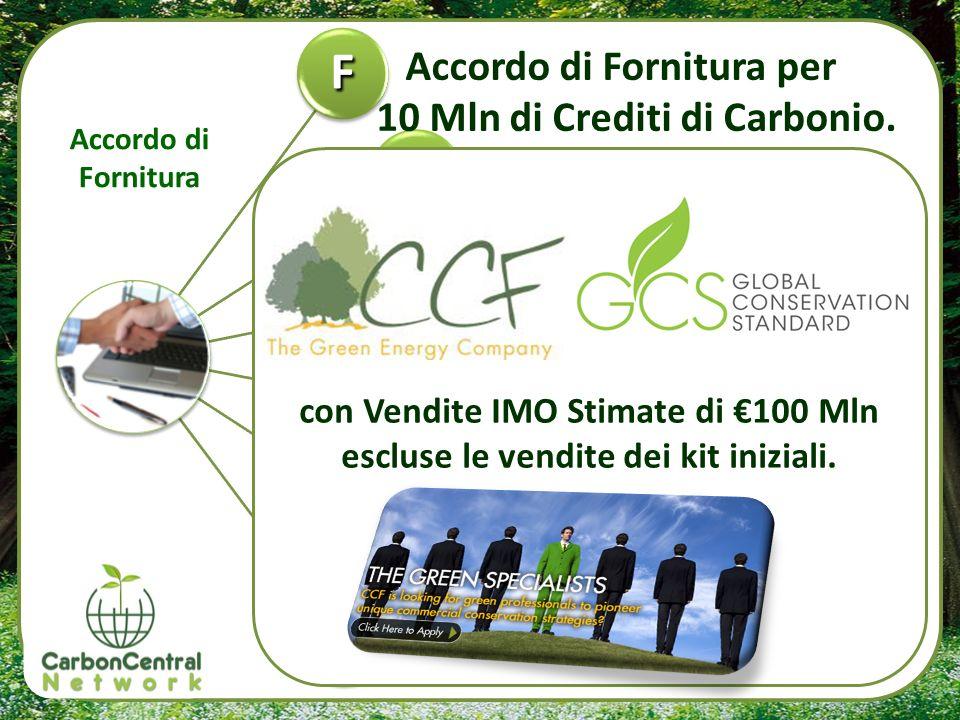F 2 3 4 5 Accordo di Fornitura per 10 Mln di Crediti di Carbonio.