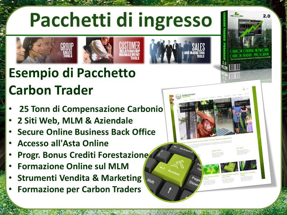 Pacchetti di ingresso Esempio di Pacchetto Carbon Trader