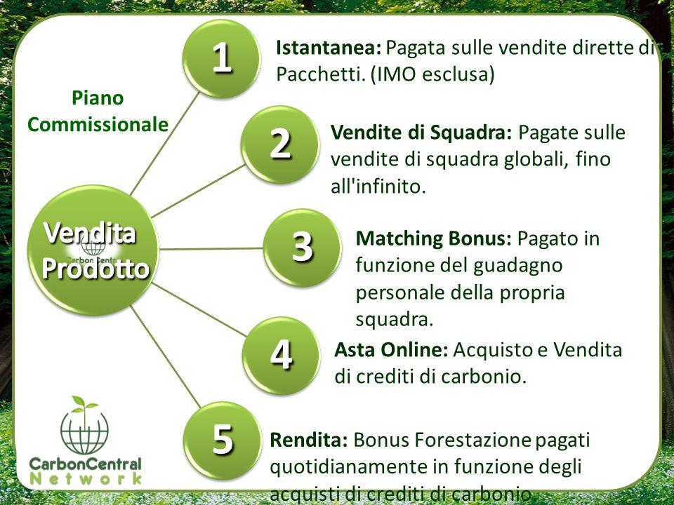 1 2. 3. 4. 5. Istantanea: Pagata sulle vendite dirette di Pacchetti. (IMO esclusa) Piano Commissionale.