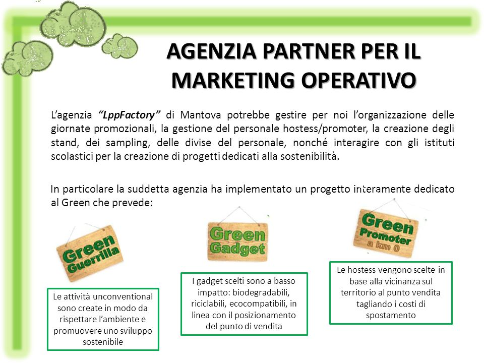 AGENZIA PARTNER PER IL MARKETING OPERATIVO