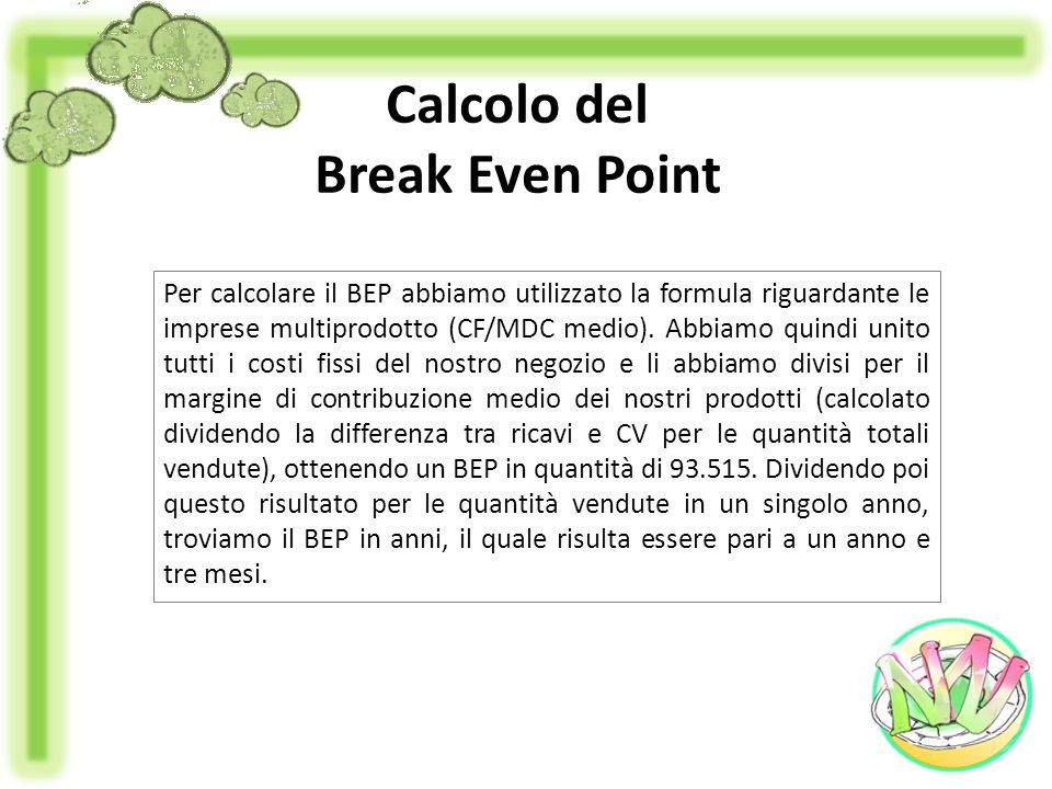 Calcolo del Break Even Point