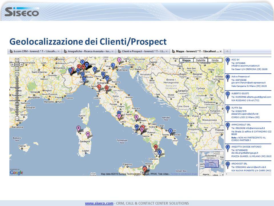 Geolocalizzazione dei Clienti/Prospect