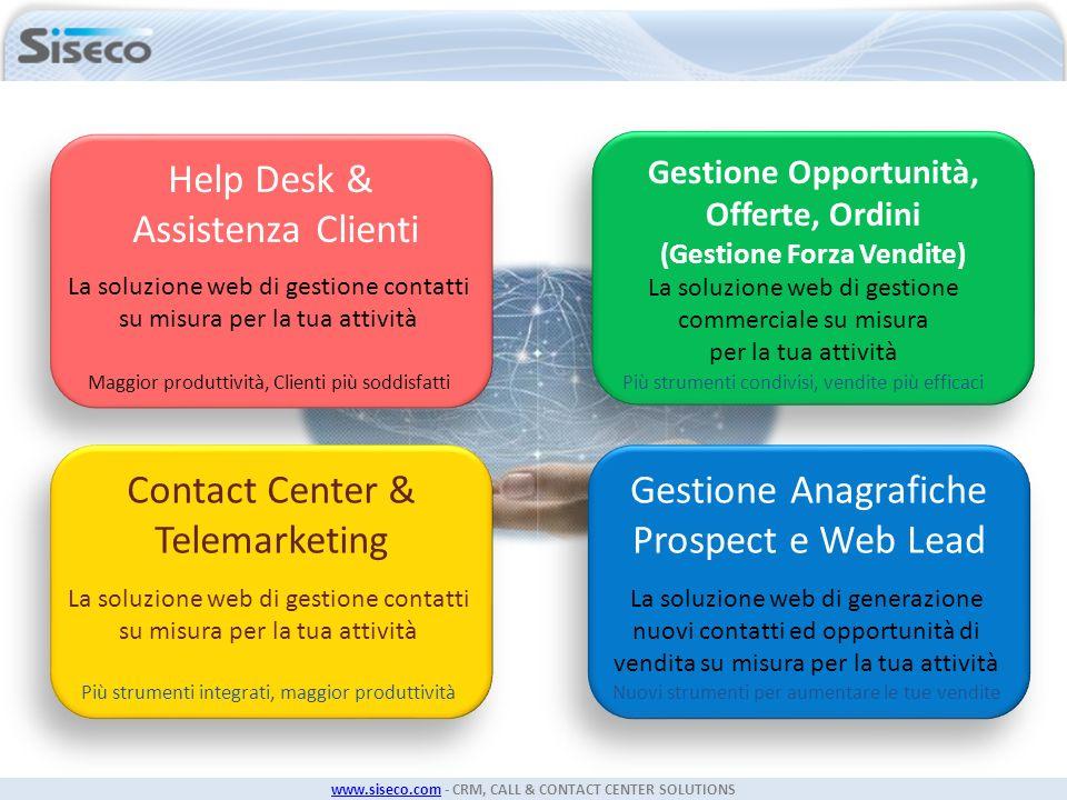 Help Desk & Assistenza Clienti