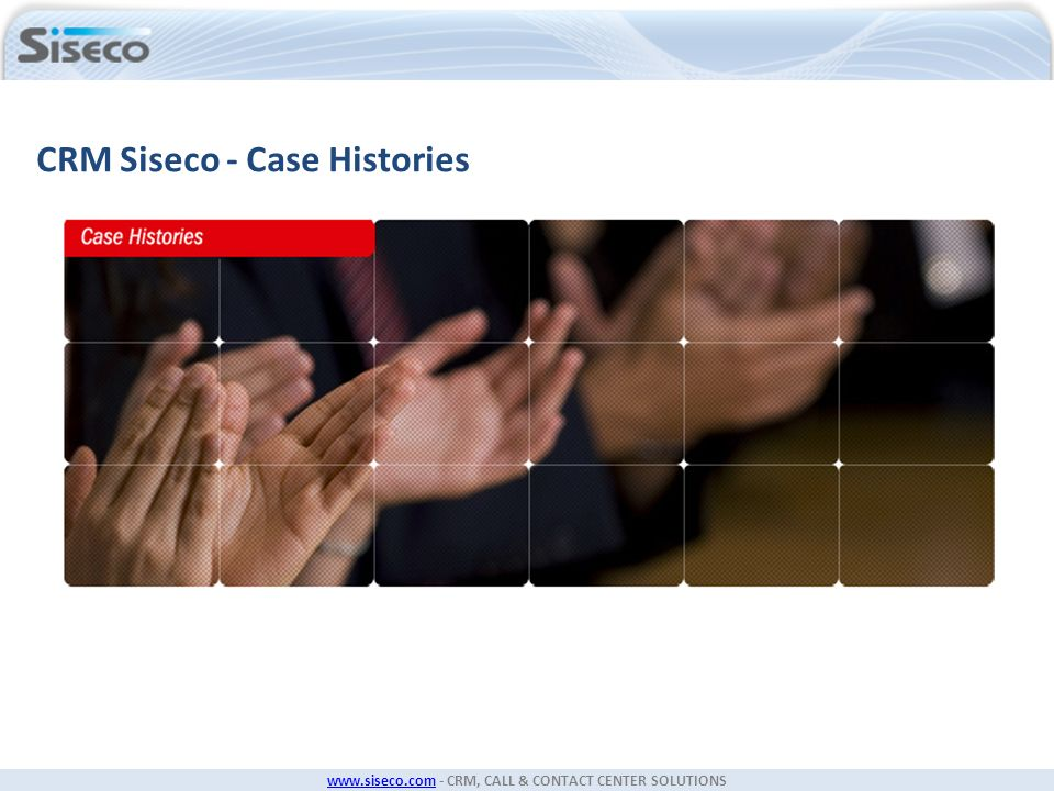 CRM Siseco - Case Histories