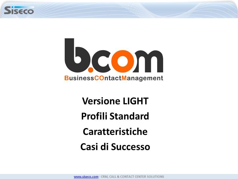Versione LIGHT Profili Standard Caratteristiche Casi di Successo