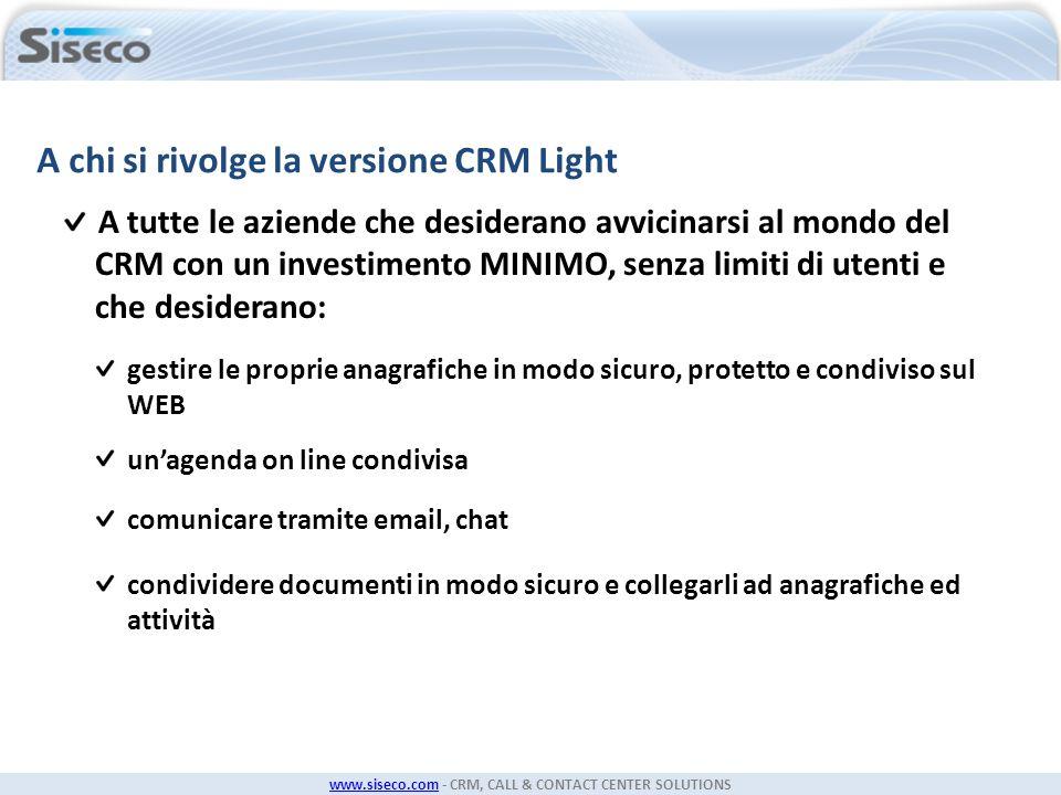 A chi si rivolge la versione CRM Light