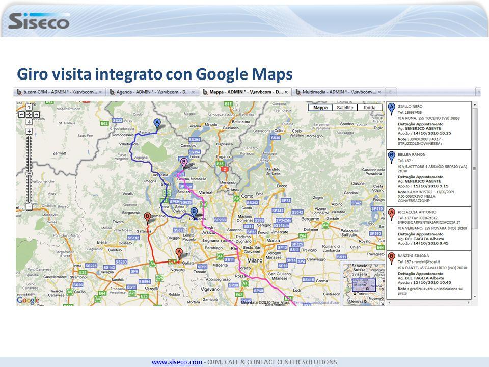 Giro visita integrato con Google Maps