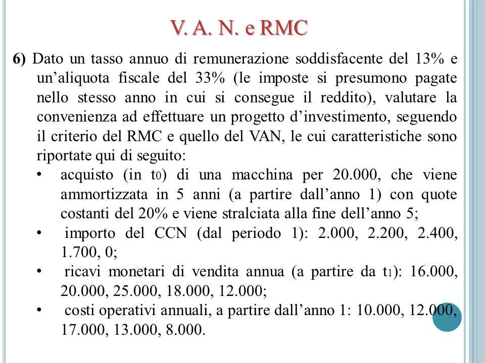 V. A. N. e RMC