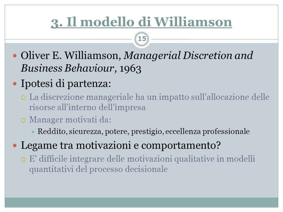 3. Il modello di Williamson