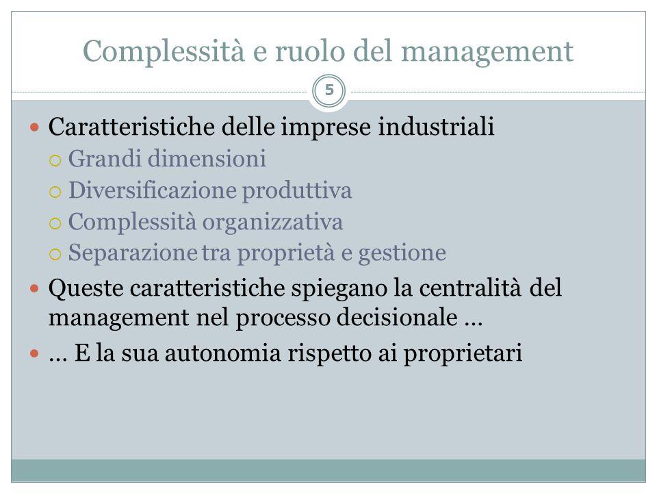 Complessità e ruolo del management