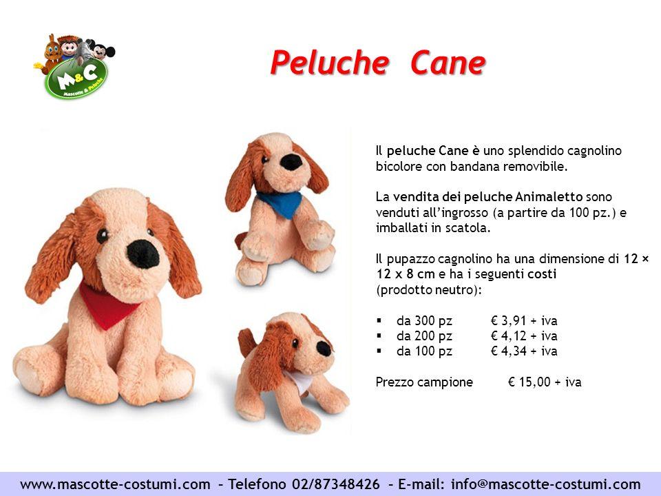 Peluche Cane Il peluche Cane è uno splendido cagnolino bicolore con bandana removibile.