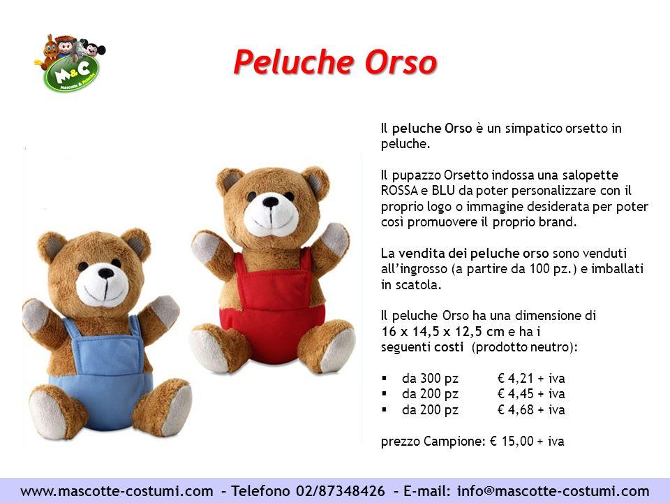 Peluche Orso Il peluche Orso è un simpatico orsetto in peluche.