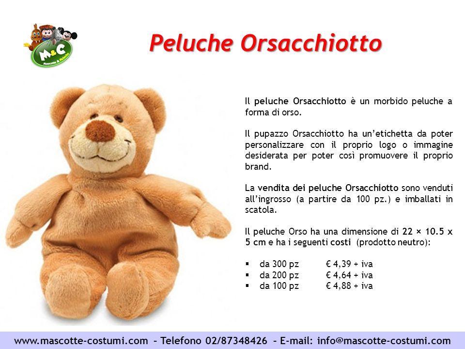 Peluche Orsacchiotto Il peluche Orsacchiotto è un morbido peluche a forma di orso.