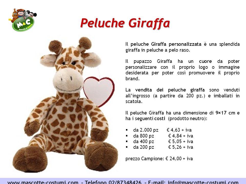 Peluche Giraffa Il peluche Giraffa personalizzata è una splendida giraffa in peluche a pelo raso.