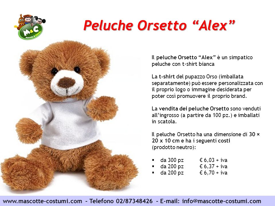 Peluche Orsetto Alex