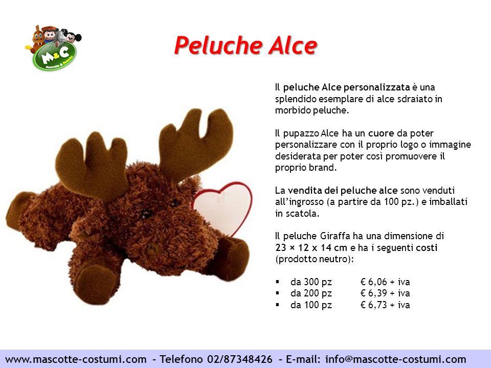 Peluche Alce Il peluche Alce personalizzata è una splendido esemplare di alce sdraiato in morbido peluche.