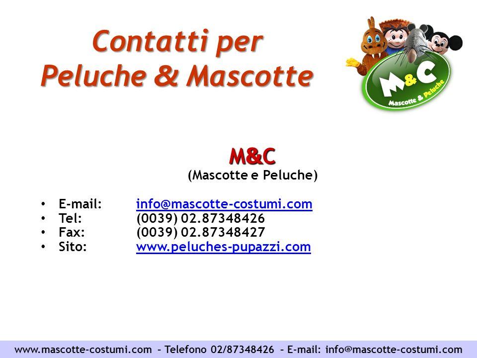 Contatti per Peluche & Mascotte