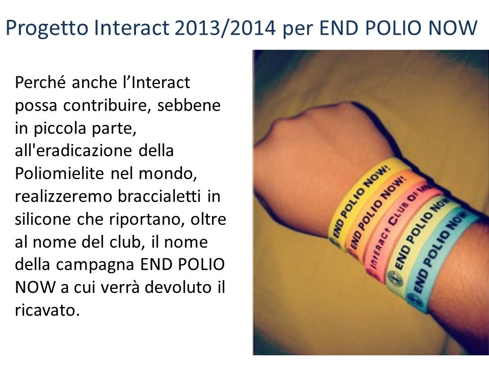 Progetto Interact 2013/2014 per END POLIO NOW