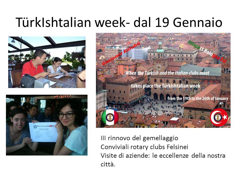 TürkIshtalian week- dal 19 Gennaio
