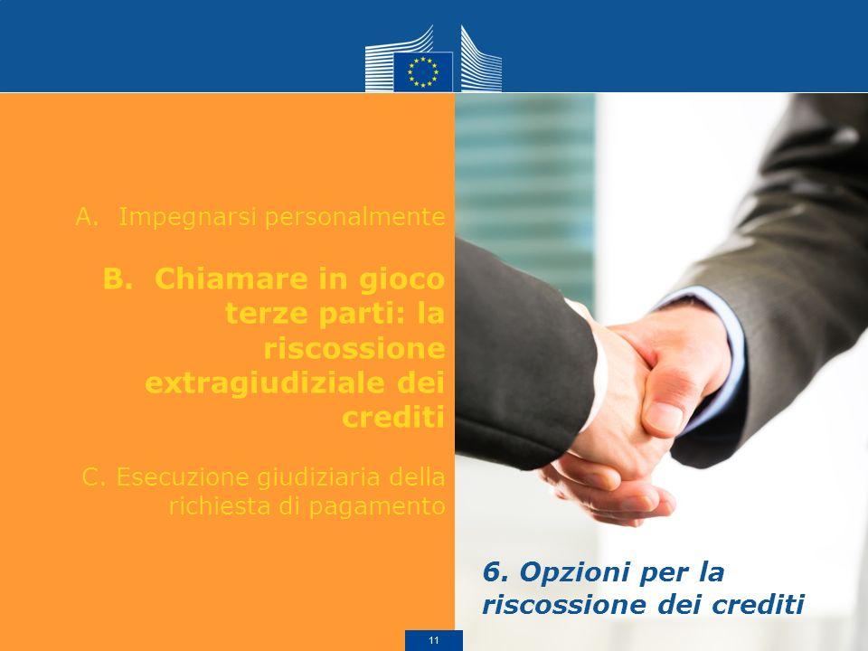 6. Opzioni per la riscossione dei crediti