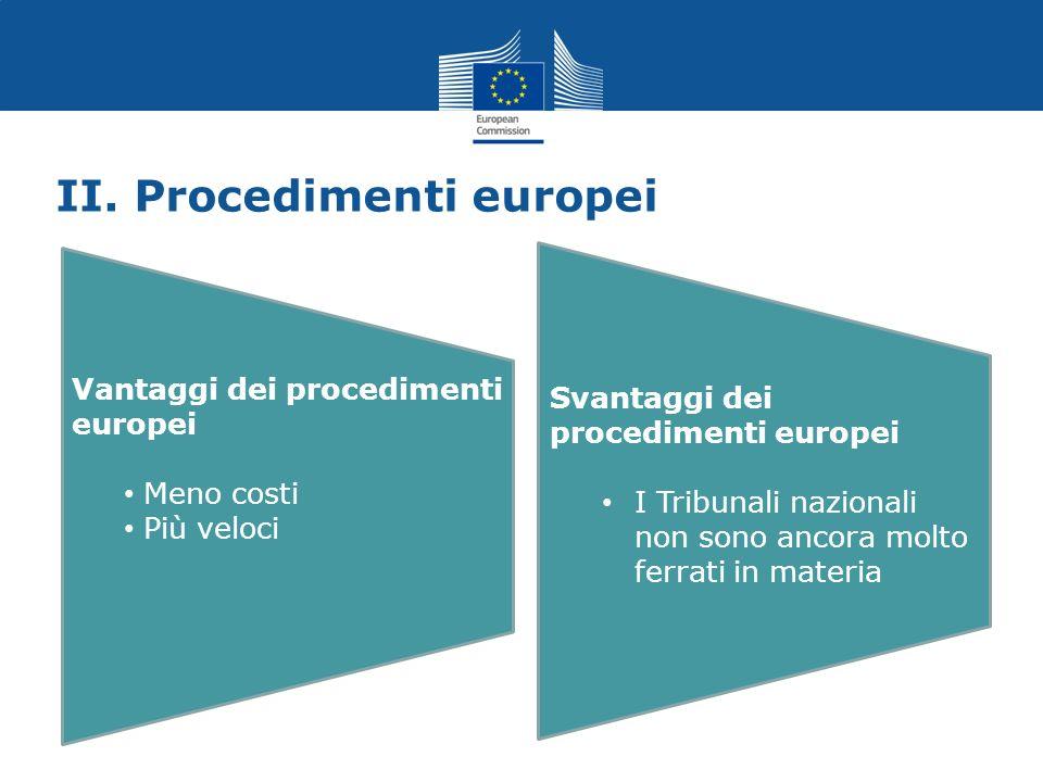 II. Procedimenti europei