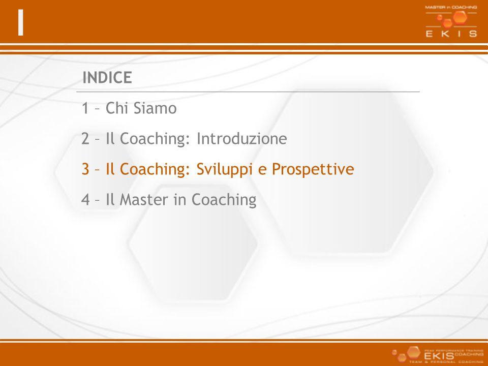 1 – Chi Siamo2 – Il Coaching: Introduzione.3 – Il Coaching: Sviluppi e Prospettive.
