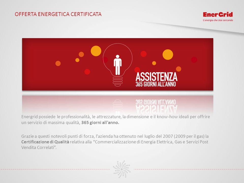OFFERTA ENERGETICA CERTIFICATA