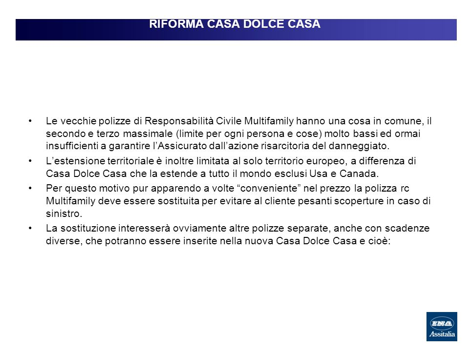 RIFORMA CASA DOLCE CASA